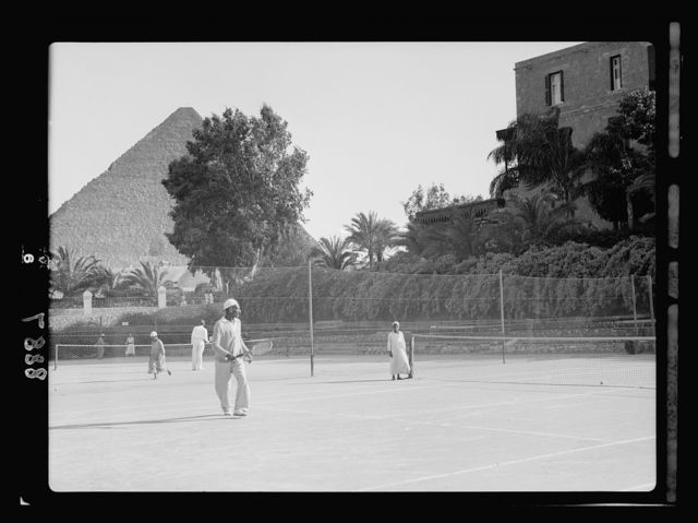 Egypt. Cairo. Hotels. Mena House. The tennis courts
