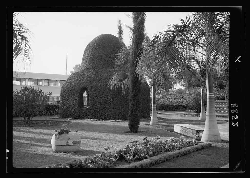Egypt. Egypt. Cairo. Overgrown bower in the garden (in form of Moslem [i.e., Muslim] shrine)