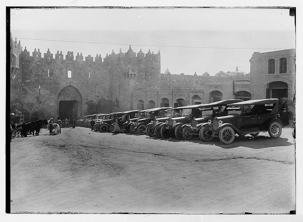 Ford cars parked in Damascus Gate area