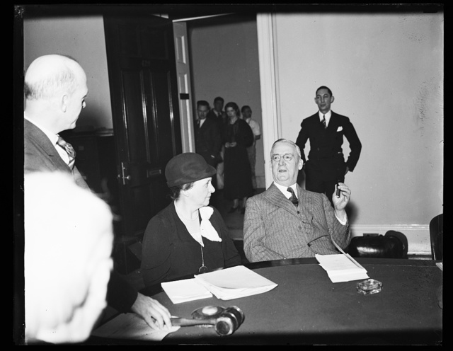 [Frances Perkins, center]