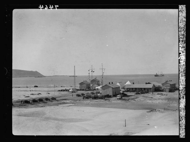 I.P.C. [i.e., Iraq Petroleum Company] terminus in Haifa showing Carmel & Haifa Bay