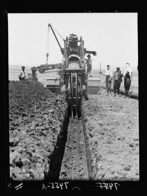 I.P.C. [i.e., Iraq Petroleum Company]. Trench digger. Closer view