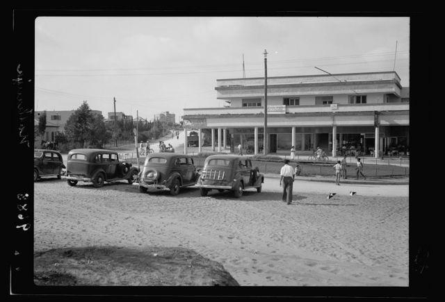 Jewish coastal colonies Herzlia, Ra'nana, Nathania, Khudeira. Nathania town square