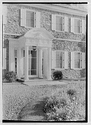 John N. Conyngham, Hayfield Farm, residence in Lehman Township, Pennsylvania. Main entrance detail I