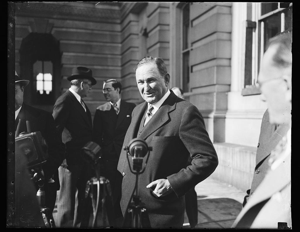 [Joseph T. Robinson; Rush Holt in background. U.S. Capitol, Washington, D.C.]