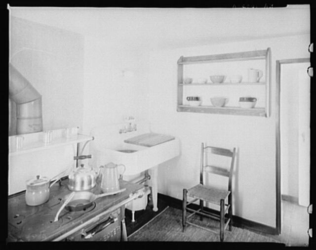 Kitchen in model house. Reedsville, West Virginia