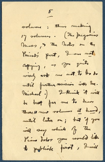 Letter fragment from Ernest Newlandsmith to Ragheb Moftah, [February 17, 1934?]