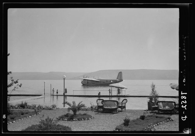 Lido, Flying boat Clio. Flying boat from the Lido