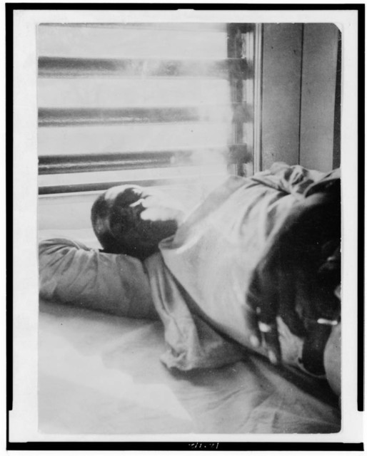 "[""Lightnin'"" Washington, an African American prisoner, in the prison hospital at Darrington State Farm, Texas]"