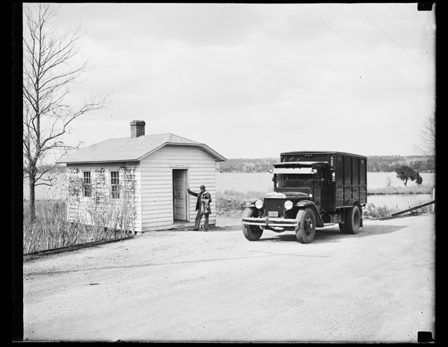 [Mail truck at Post Office, St. Mary's City, Maryland]