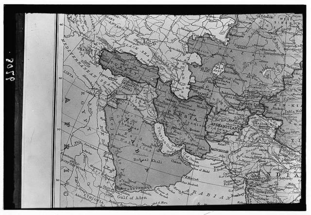 Map of the east. Mediterranean to India, Gulf of Aden & Arabian Sea