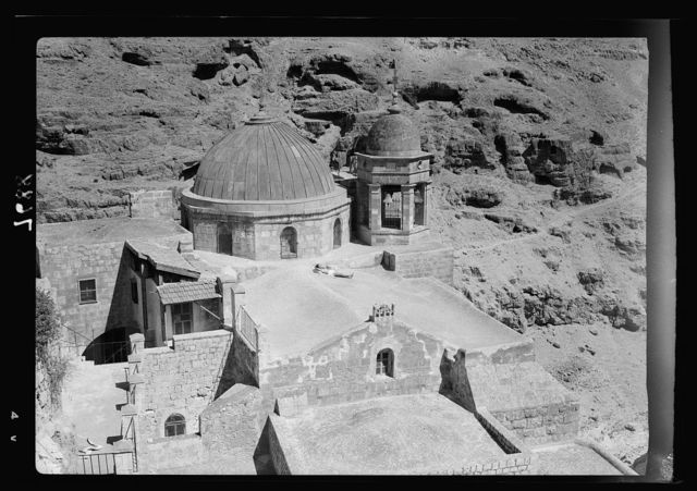 Mar Saba. Church roof & belfry