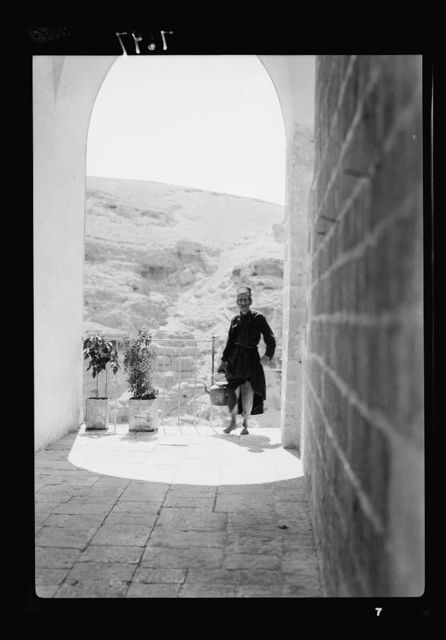 Mar Saba. Old monk in convent