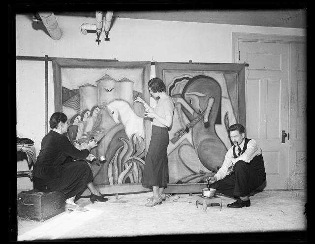 [Mural painting]
