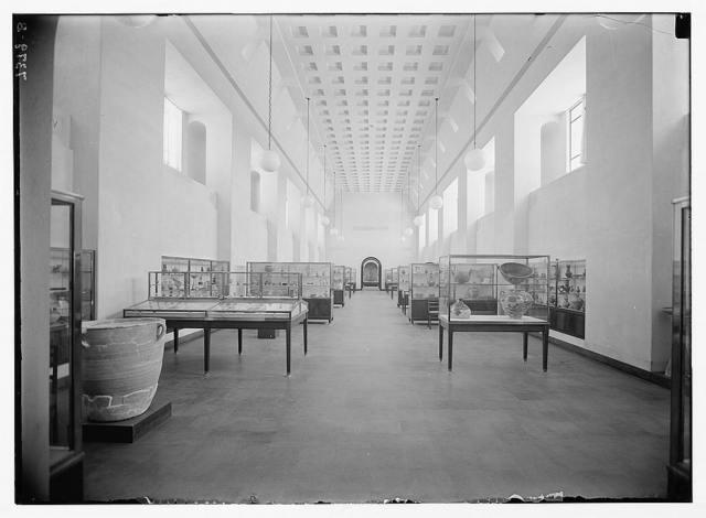 Museum (Rockefeller) in Jerusalem. Museum. S. gallery, interior