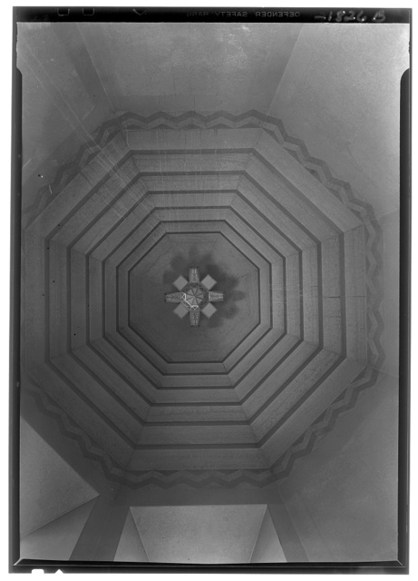 Nebraska State Capitol, Lincoln, Nebraska. Elevator hall ceiling, Memorial Hall II