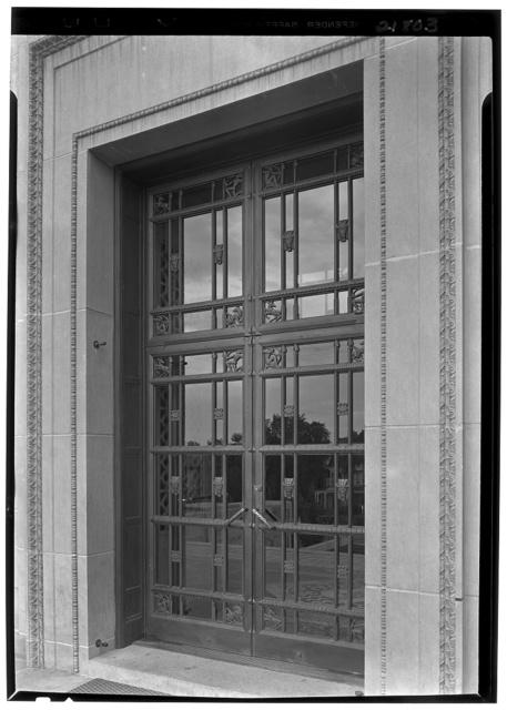 Nebraska State Capitol, Lincoln, Nebraska. Entrance door