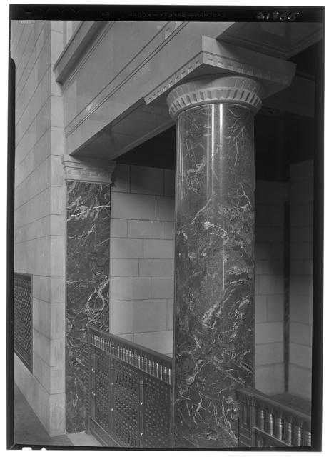 Nebraska State Capitol, Lincoln, Nebraska. House chamber, pillar and rail