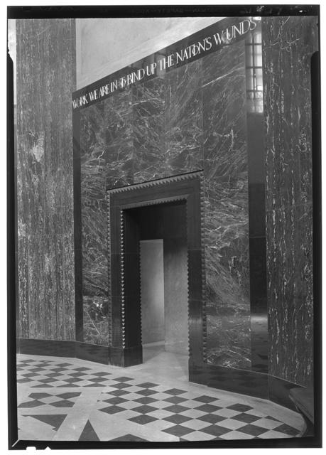 Nebraska State Capitol, Lincoln, Nebraska. Memorial Hall, doorway