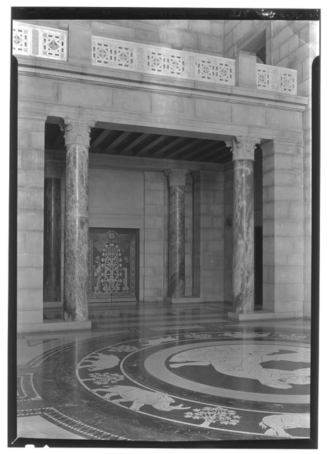 Nebraska State Capitol, Lincoln, Nebraska. Rotunda, toward house doors