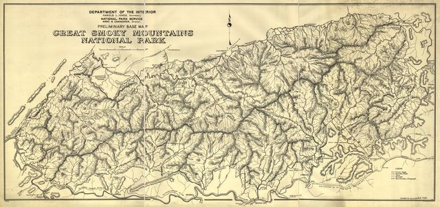 Preliminary base map, Great Smoky Mountains National Park.