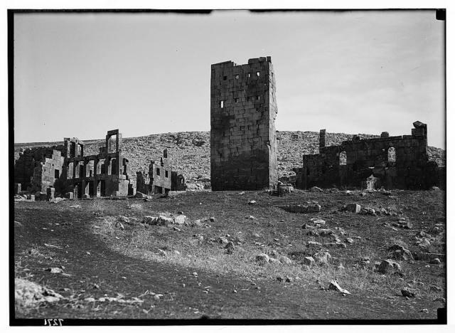 Qasr el Benat N. of Aleppo from W.