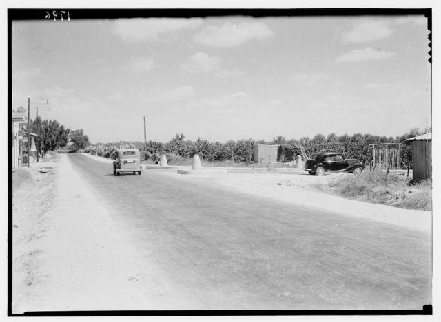 Ramleh, Tel-Aviv. Junction of Lydda road with the Jaffa road west of Ramleh