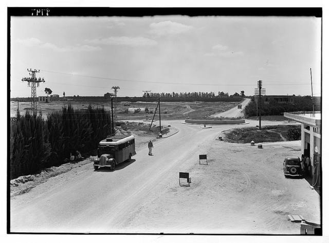 Ramleh Tel-Aviv. Junction of Rehovoth road with the Jaffa road. Point where the ancient caravan route from Egypt passed north of Megiddo and Damascus.