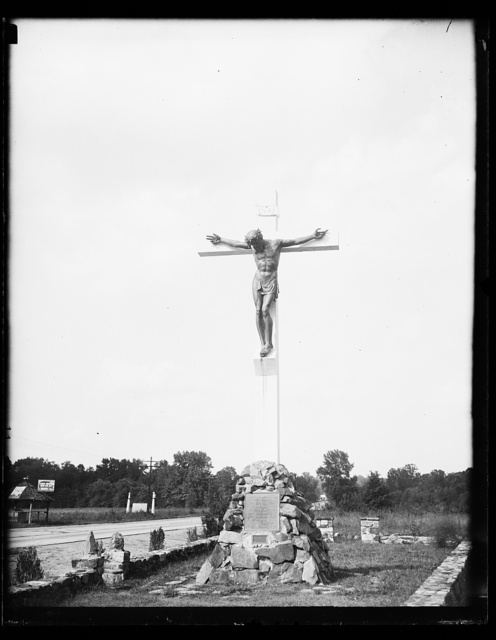 [Roadside Jesus on crucifix]