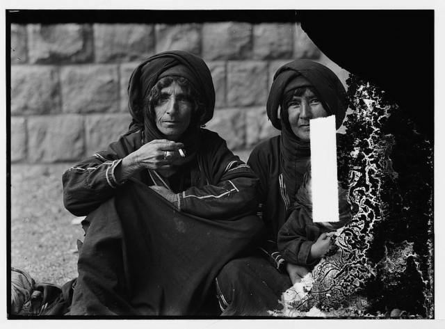 [Scots Mission Hospital, Tiberias. Bedouin women at the clinic, waiting]