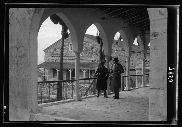 Scots Mission Hospital Tiberias. Mission House in Safad showing Rev. Sloan & Mr. Glaser