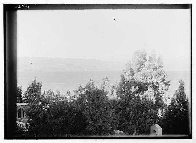 Scots Mission Hospital, Tiberias (Torrance).Telephoto of Mt. Hermon from doctor's porch.