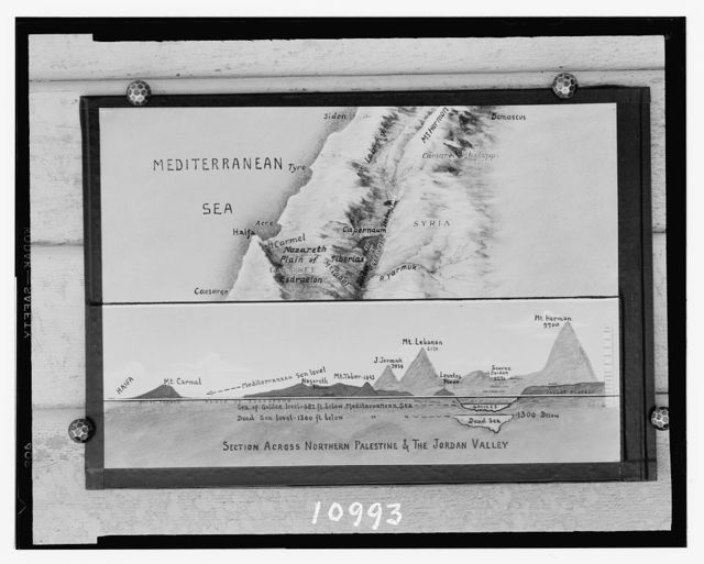 Section map across Galilee & Jordan Valley, by George Odom Smith