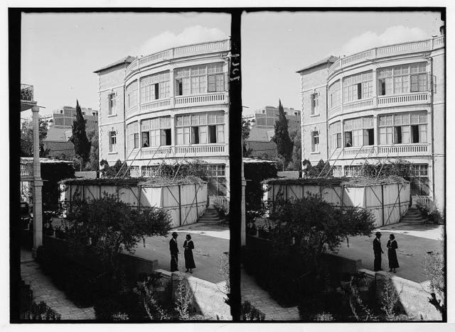 Tabernacle [Sukkot]. Ext. [i.e., exterior] & int, Goldsmidt House.