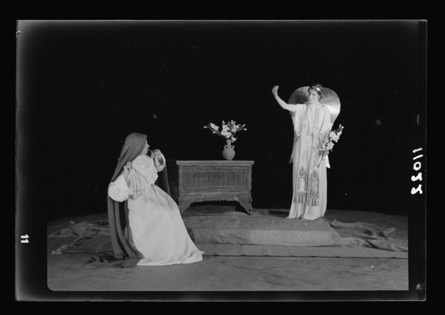 The Christmas Story, Y.M.C.A. tableaux. The Annunciation I