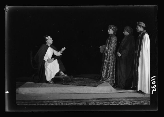 The Christmas Story, Y.M.C.A. tableaux. The Magi before Herod I