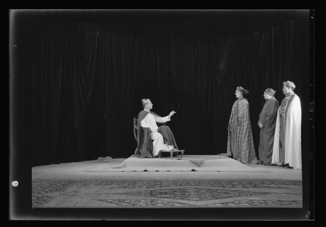 The Christmas Story, Y.M.C.A. tableaux. [The Magi before Herod III]