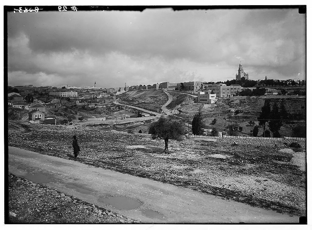View from St. Andrew's Church toward Jerusalem (view of J'lem [i.e., Jerusalem] fr[om] the south).
