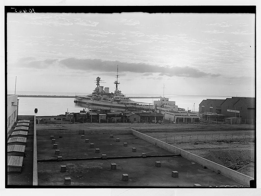 War ship in the Haifa Harbour.