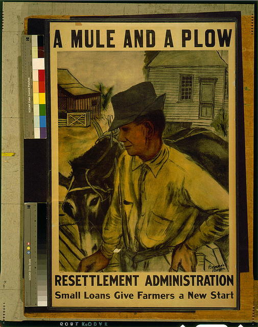 A mule and a plow--Resettlement Administration--Small loans give farmers a new start / Bernarda Bryson.