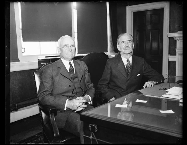Ad. Wm. Standley U.S.N. Sec. Claude Swanson