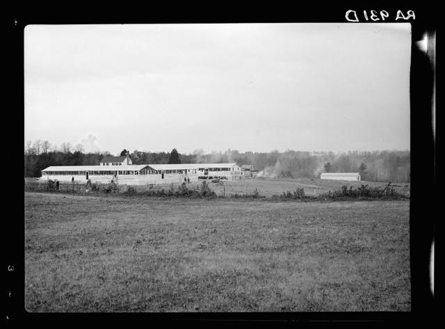 Administration building of the Berwyn project under construction near the McGruder farm. Berwyn, Maryland