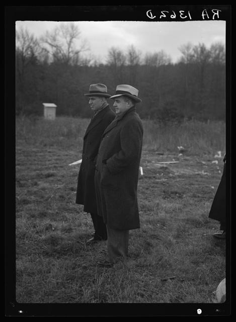 Administrator Tugwell and Mr. Schmidt at Berwyn, Maryland