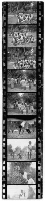 [African American children outdoors, Eatonville, Florida; Zora Neale Hurston and three boys in Eatonville, Florida; Children playing singing game and dancing outdoors, Eatonville, Florida]