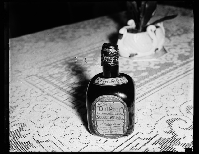 """Ancient """"Old Parr"""" Real Antique and Rare Old Scotch Whiskey"""