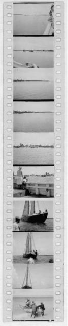 [Arrival at Cat Island, including views of the boat approaching the harbor, Bahamas, June 1935]