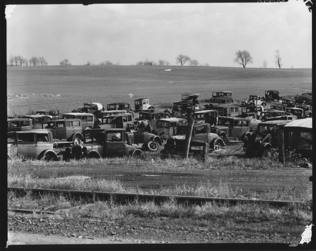 Auto dump near Easton, Pennsylvania