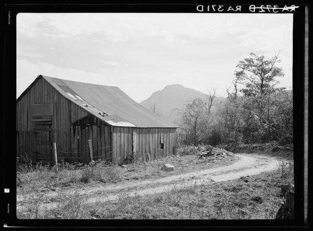 Barn on road to Old Rag. Shenandoah National Park, Virginia