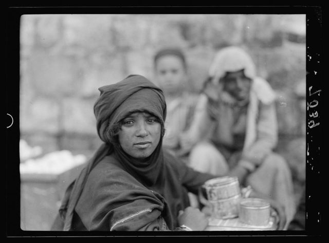 Bedouin girl in Tiberias with tatoo [i.e., tattoo] face