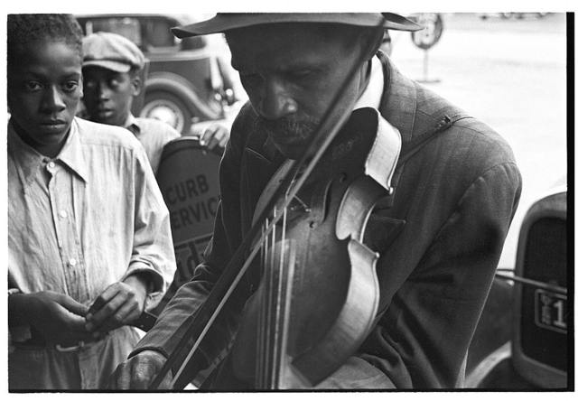 Blind street musician, West Memphis, Arkansas